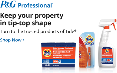 Keep your property in tip-top shape. Turn to the trusted products of Tide®