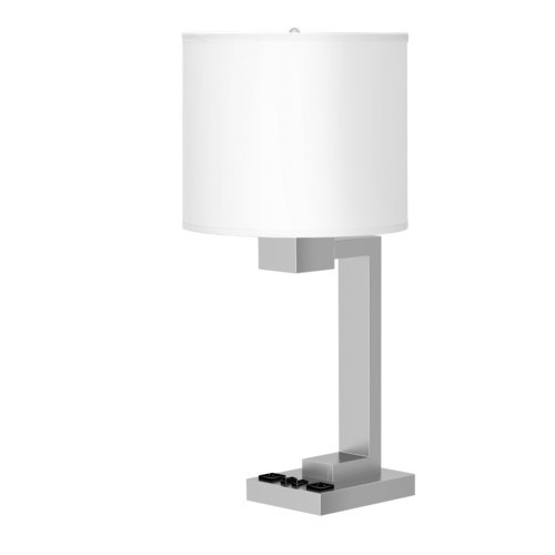 Startex Twin Table Lamps 26 Quot Brushed Nickel White