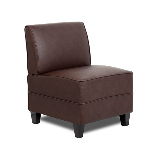 Fantastic Boss Armless Lounge Chair Brown Caraccident5 Cool Chair Designs And Ideas Caraccident5Info