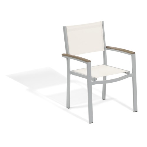 Groovy Oxford Garden Travira Outdoor Dining Chair White 2 Pack Gmtry Best Dining Table And Chair Ideas Images Gmtryco