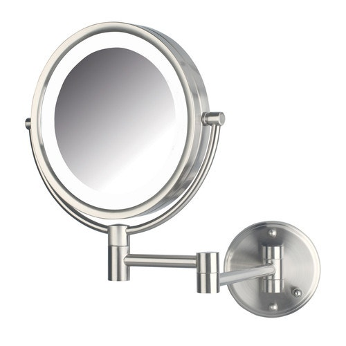 Jerson Led Lighted Wall Mounted Mirror Nickel 8 5 Dia