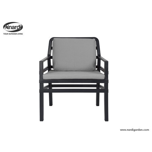 Astonishing Nardi Aria Collection Lounge Chair Anthracite Frame Anthracite Cushions Gmtry Best Dining Table And Chair Ideas Images Gmtryco