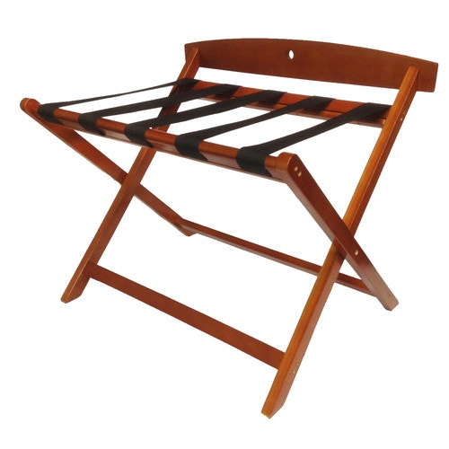 Mahogany Finish Wholesale Hotel Products Wooden Luggage Rack