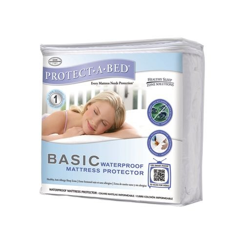Protect-A-Bed Basic Waterproof Mattress Protector, Queen ...