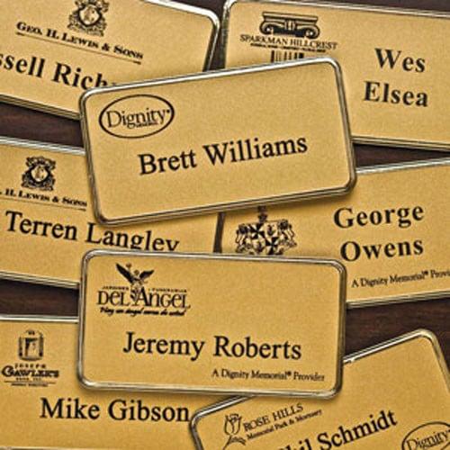 Registry Pre-Printed Name Badge