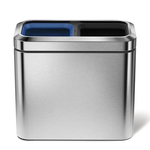 . Trash Can  Simplehuman  5 3 Gal  20 Liter   Stainless Steel