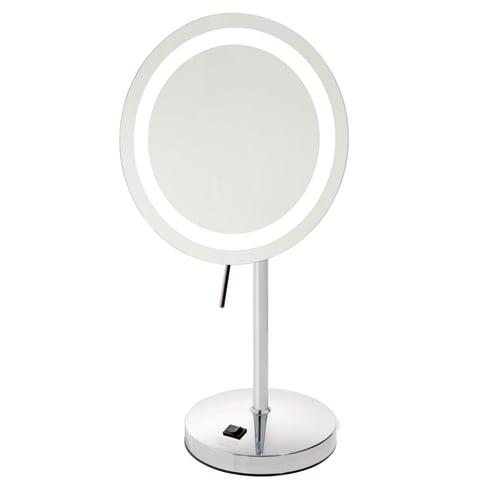 Sharper Image Makeup Mirror.Sharper Image Slimline Design Led Lighted Vanity Mirror 8 5 Dia Chrome