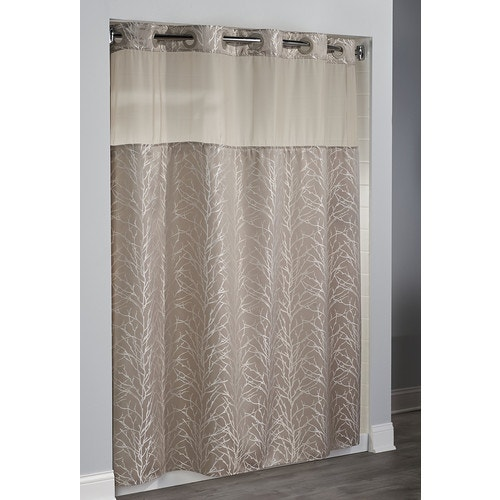 Hookless Brand Shower Curtain.Hookless Englewood Shower Curtain Neutral 71 X 77