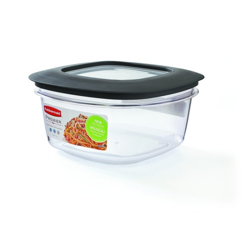 Rubbermaid Commercial Products Rectangle Food Storage Container, 5-Cup,  Clear