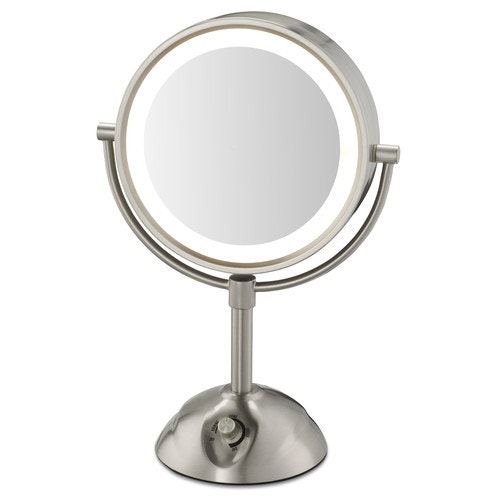Conair Lighted Vanity Mirror 8 5 Dia Satin Nickel Vanity Mirrors Bathroom Mirrors Bathroom Fixtures Maintenance And Engineering Open Catalog American Hotel Site