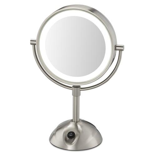 Lighted Makeup Mirror.Conair Lighted Vanity Mirror 8 5 Dia Nickel