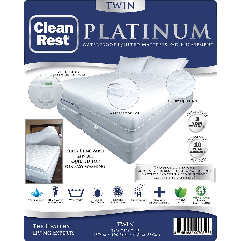 CleanBrands CleanRest Platinum Zippered Mattress Pad Encasement