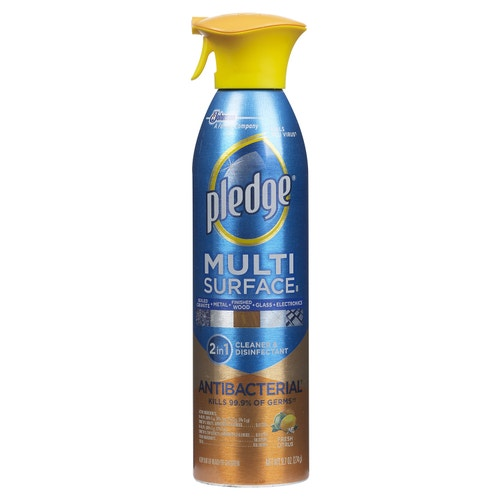 Pledge Multi Surface Antibacterial Spray And Furniture Polish 9 7 Oz Metal Polishes Cleaning Chemicals Housekeeping