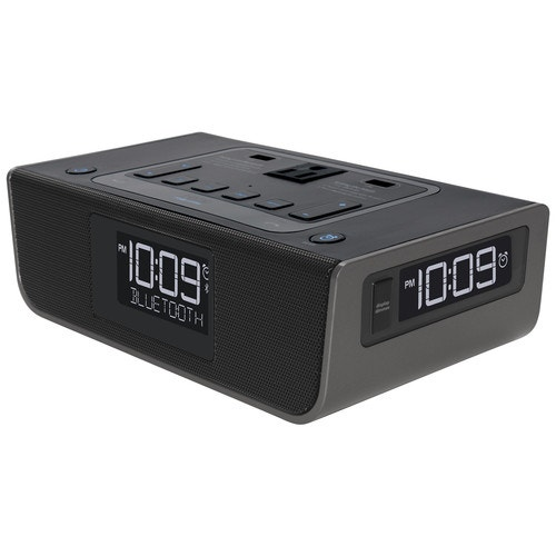 iHome Charging Alarm Clock, Black