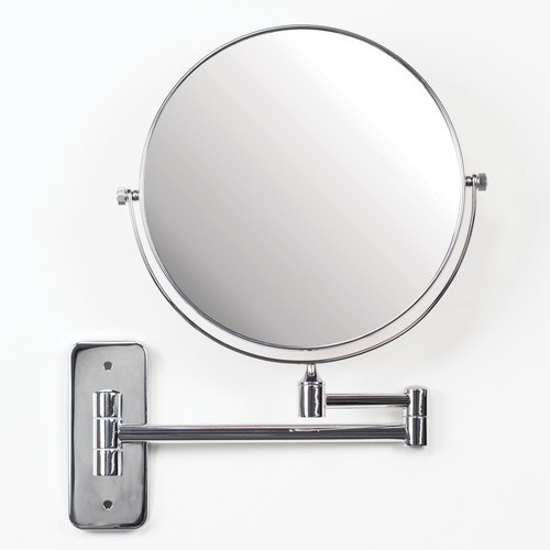 Registry Wall Mounted Swivel Mirror 8 Dia Stainless Steel