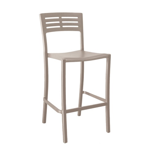 Astonishing Grosfillex Vogue Outdoor Stacking Barstool Resin French Taupe Bralicious Painted Fabric Chair Ideas Braliciousco