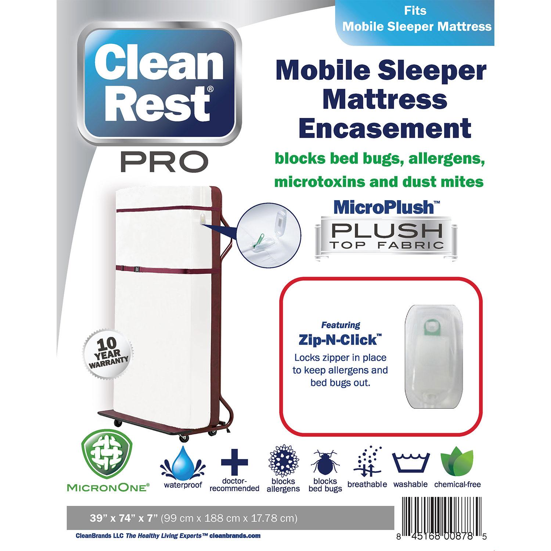 CleanBrands CleanRest Pro Mattress Encasement, Roll-A-Way