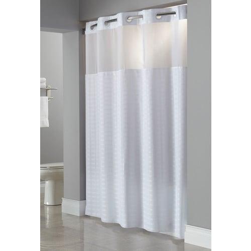 Hookless Brand Shower Curtain.Hookless Madison Shower Curtain White 71 X 80