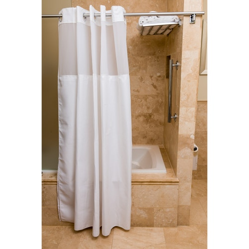 Valley Forge Spa Windowed Shower Curtain White 77 L X 71 W
