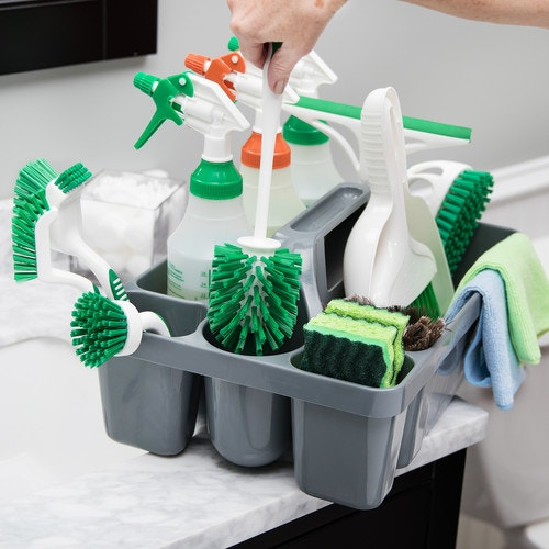 Amazing Libman Commercial Maid Caddy With Bowl Brush Holder Gray 4 Case Download Free Architecture Designs Scobabritishbridgeorg