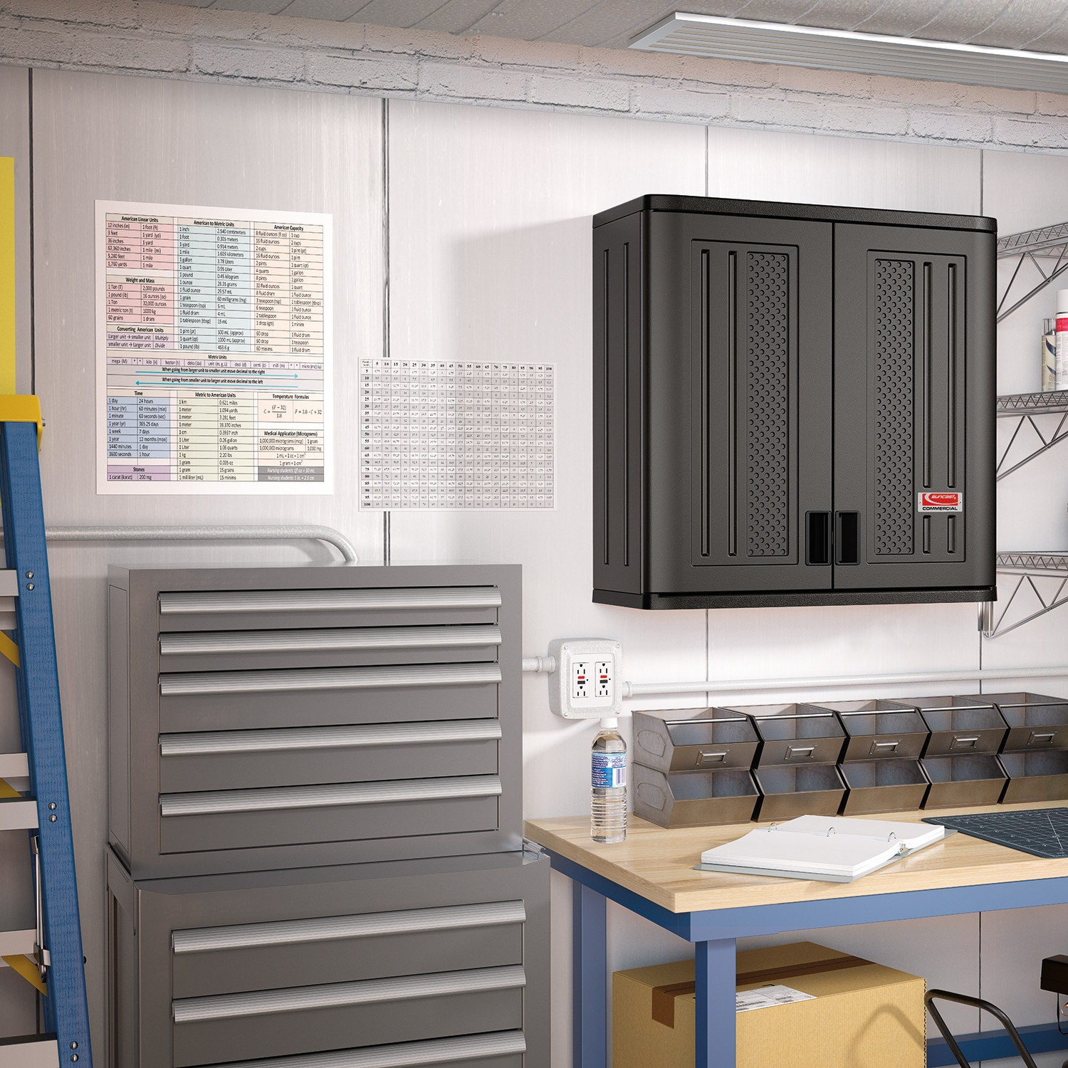 ... Suncast Commercial Wall Cabinet, Gray