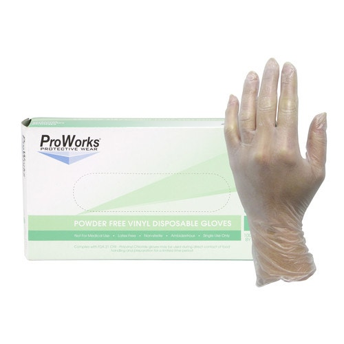 20e43787def6b ProWorks Powder-Free Vinyl Disposable Gloves, Large, Clear | Vinyl Exam  Gloves | Personal Safety | Safety and Security | Maintenance and  Engineering | Open ...