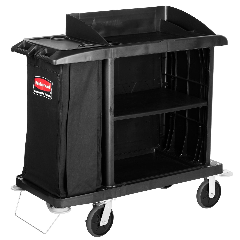 Housekeeping Cart with Vinyl Bag