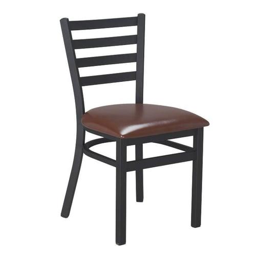 Millex Guest Room Dining Chair Brown Vinyl