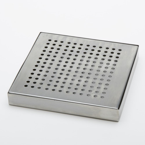 """American Metalcraft Square Stainless Steel Drip Tray, 5"""" L"""