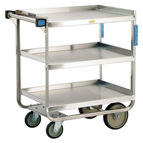 Lakeside 3-Shelf Utility Cart, Stainless Steel, 18\