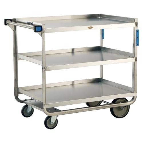 Lakeside 3-Shelf Utility Cart, Stainless Steel, 1,000 Lb. Cap., 21\