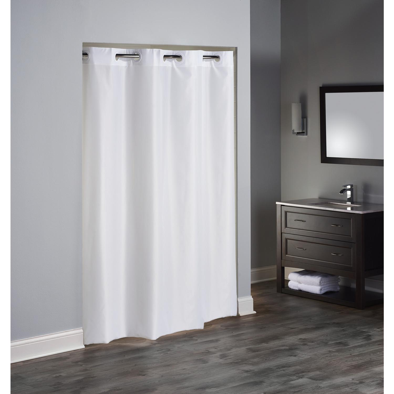 Hookless Tpu Plain Weave Shower Curtain White 71 W X 82 L