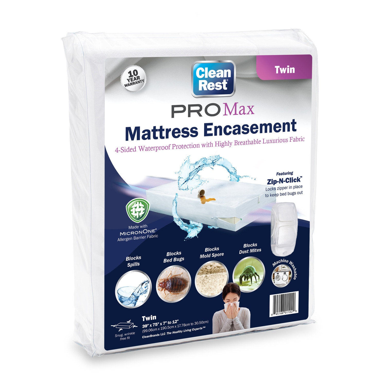 Clean Rest PRO Bed Bug Waterproof /& Allergen Blocking Box Spring Encasement