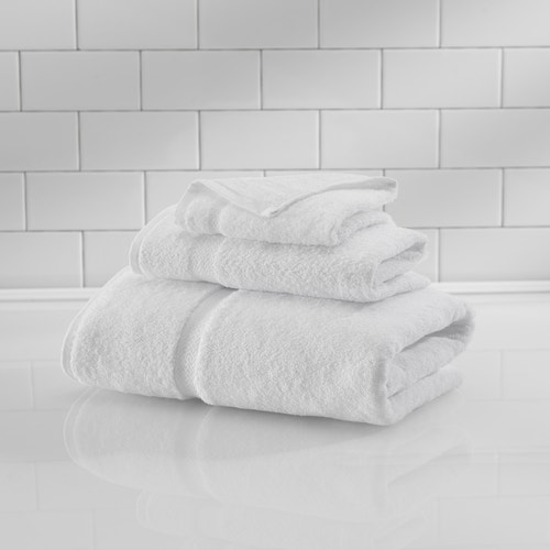 Bath Towel, 27x50, 14 lb/dz, White, Crown Touch