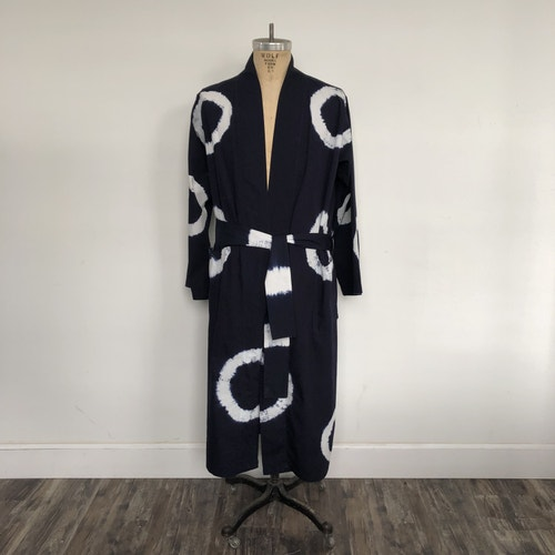 Indigo Tie Dye Standard Size Robe 100 Cotton Specialty Robes Robes Bed And Bath Linens Open Catalog American Hotel Site