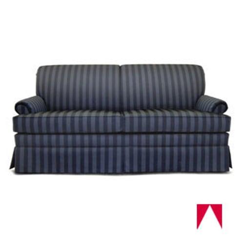 Strange Charter Furniture Sleeper Sofa Tan Stripe Full 72 W X 37 D X 35 H Ibusinesslaw Wood Chair Design Ideas Ibusinesslaworg