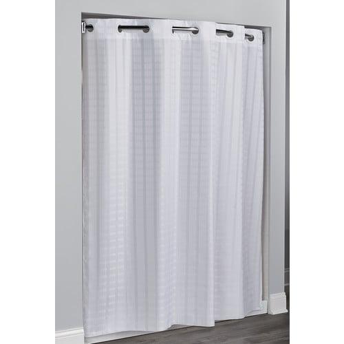 Hookless Litchfield Waffle Weave Shower Curtain 71 X 74 White