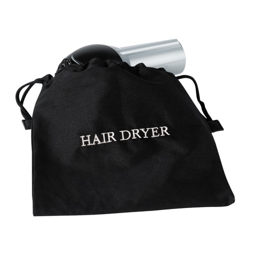 Registry Embroidered Flame Ant Hair Dryer Bag 12 W X L Black