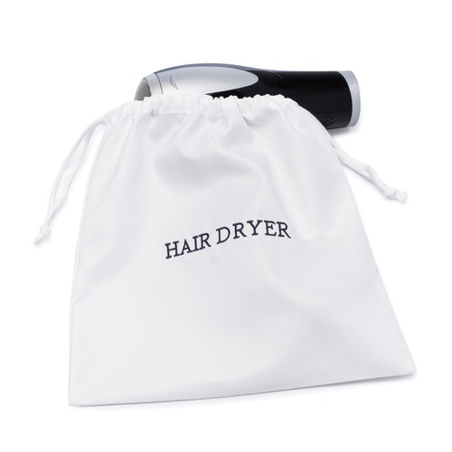 Registry Embroidered Hair Dryer Bag 12 X White