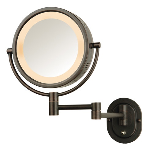 Makeup Mirror Jerdon Full Size Oil Rubbed Bronze Wall Mount Lighted