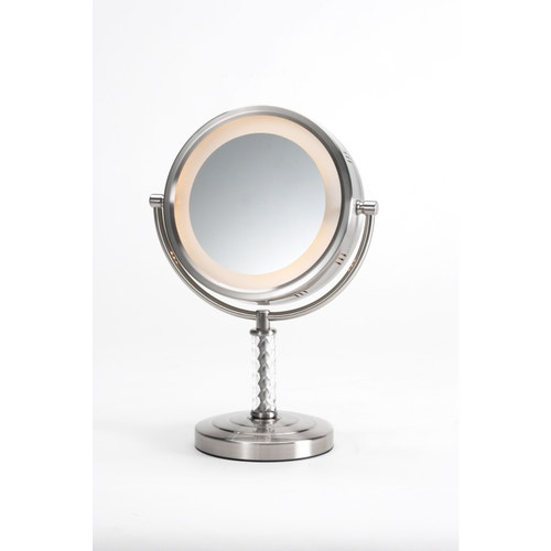 Jerdon Table Top Lighted Vanity Mirror