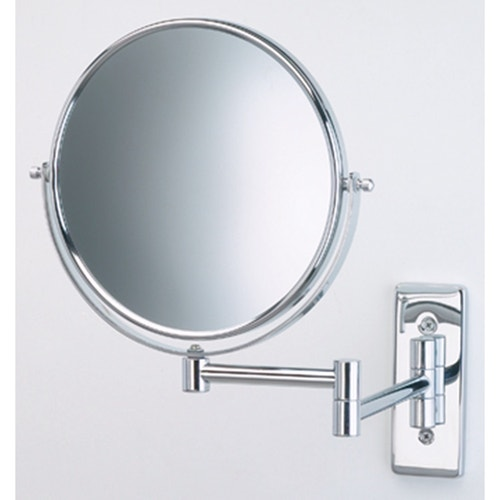 Jerdon Wall Mounted Vanity Mirror 5x Magnification Chrome 6 Dia