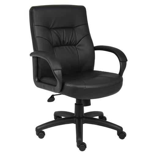 Awesome Executive Chair Boss Mid Back Leather Spiritservingveterans Wood Chair Design Ideas Spiritservingveteransorg