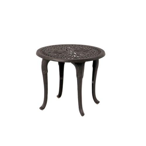 Astonishing Hanamint Tuscany Cast Aluminum Tea Table Bralicious Painted Fabric Chair Ideas Braliciousco