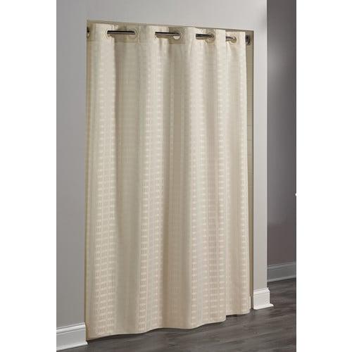 Hookless Brand Shower Curtain.Hookless Litchfield Shower Curtain 71 X77 Beige
