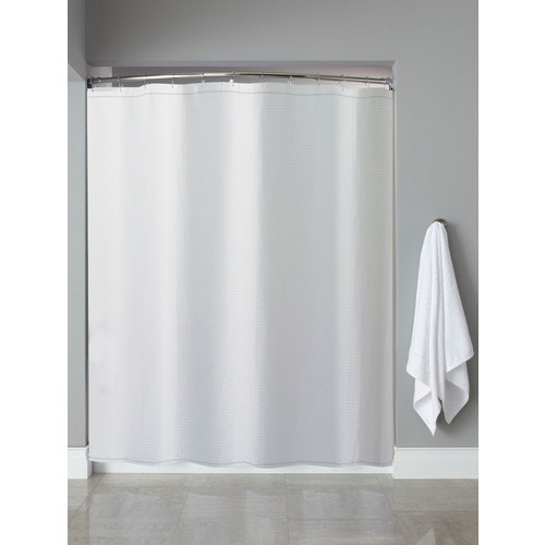 Hooked Waffle Weave Shower Curtain White 72 X