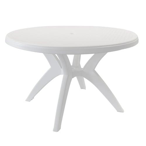 Grosfillex Ibiza Outdoor Table Resin 46 Dia X 29 H White