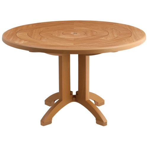 Folding Round Table Top.Folding Dining Table Grosfillex Atlantis Round 48 Inch Dia X 29 Inch H
