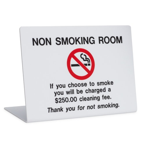Registry No Smoking Tilt Sign 4 Quot W X 3 Quot H Safety And