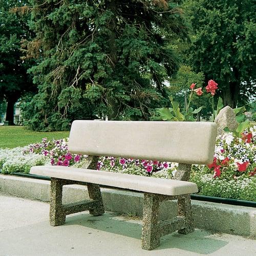 Fabulous Benches Precast Concrete W Back 58 Inch X 33 Inch X 23 Inch Ibusinesslaw Wood Chair Design Ideas Ibusinesslaworg